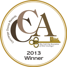 Concierge Choice Awards 2013 Winner