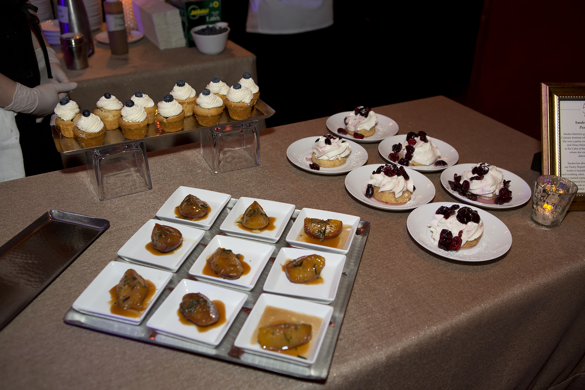 Various pastries and cupcakes